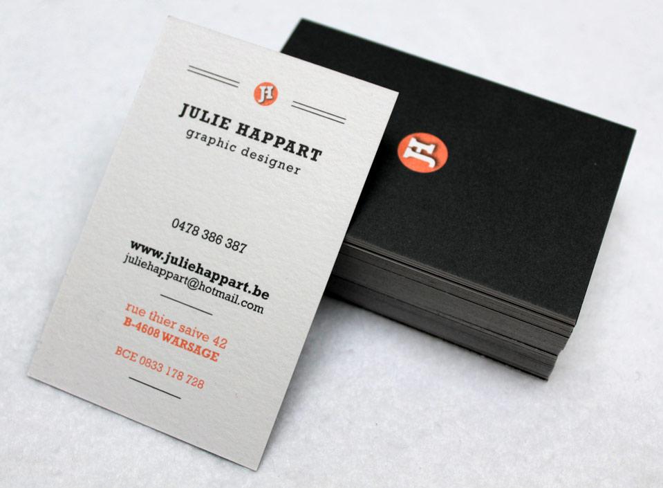 Julie Happart Creation Des Cartes De Visite